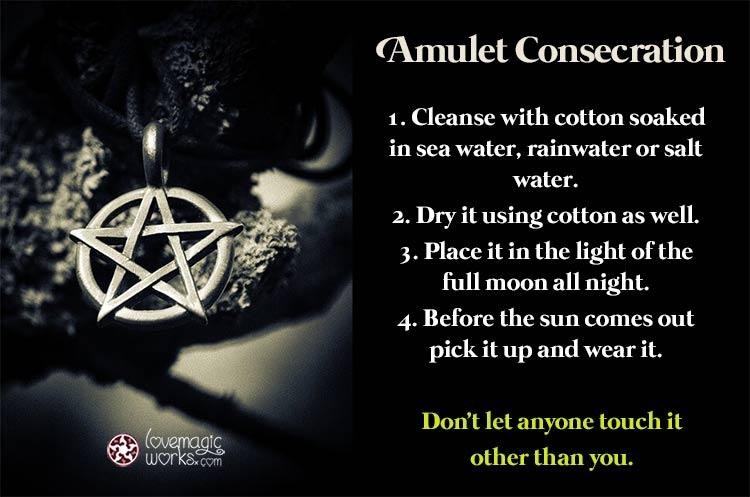 Pentagram amulet consecration
