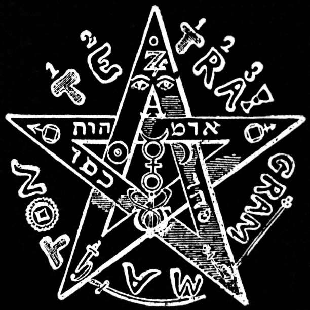 Tetragrammaton pentagram symbol